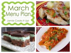 March Menu Plan 2014 from Jamie Cooks It Up!