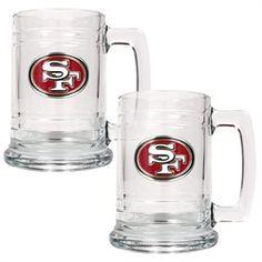 San Francisco 49ers Set of 2 Beer Mugs