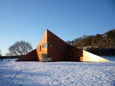 Triangular Pyramid Modular Building Architecture Plan – Welham Studio by Mark Merer