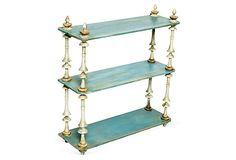 Antique Blue Shelf  on OneKingsLane.com