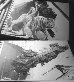 ArtStation - Inktober #1 2016, Darek Zabrocki