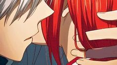 Resultado de imagen para gif anime hair red