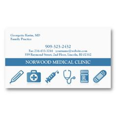 Medical doctor or healthcare business cards pinterest medical medical business card wappointment colourmoves