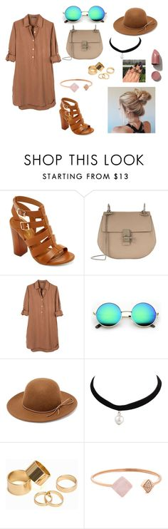 """""""Brown"""" by abydallas on Polyvore featuring mode, Bamboo, Chloé, United by Blue, RHYTHM, Pieces et Michael Kors"""