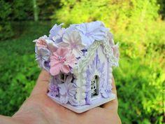 Купить Миниатюра Сиреневый домик, кукольная миниатюра, кукольный домик - миниатюра дом, миниатюра домик