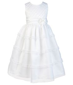 7a578115d62 Jayne Copeland Little Girls 2T-6X Sleeveless Scoopneck Dress