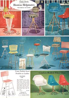 MCM bar stools and chairs