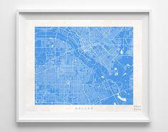 Dallas Street Map Print