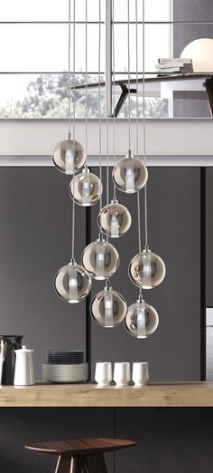 ECLISSE sospensione - Cangini & Tucci - Cangini & Tucci Wind Chimes, Pendant Lighting, Ceiling Lights, Outdoor Decor, Blown Glass, Chandeliers, Euro, Design, Home Decor