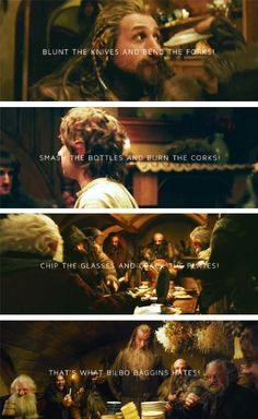 """""""That's what Bilbo Baggins hates!"""" This was one of my FAVORITE parts of the book and it totally made the movie for me! If the movie had ended there, I would have been happy, because that was hands-down one of the best musical numbers ever done on screen. <3"""