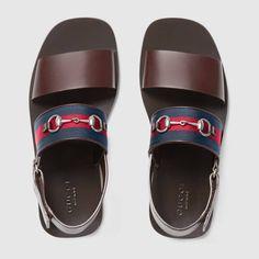 Leather Web sandal