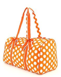 Hey, I found this really awesome Etsy listing at https://www.etsy.com/listing/194028259/personalized-quilted-orange-polka-dot