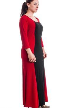 Extra long maxi dress plus size