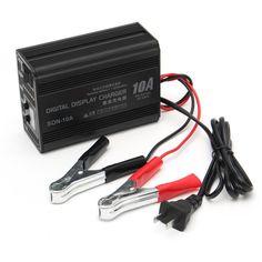 6V/12V 10A  Intelligent LED Digital LCD Display Battery Charger Lead Acid Storage