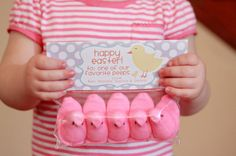Easter Treat Bag Tags: For your Favorite Peeps...Personalize your Easter Treat Giving! $7 for the Printable PDF #Easter #Party #favor #DIY #kids #gift #peeps