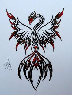 >> Motive Tattoo Galleries: Phoenix Tattoo Design
