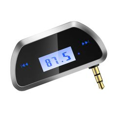 FM Transmitter In-Car Wireless 3.5mm Radio Adapter for Cell Phone Audio Players…