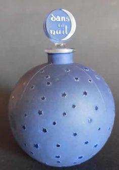 *1924 R. Lalique Perfume Bottle ~Dans La Nuit 12,5cm
