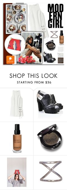 """""""Popmap 28"""" by melissa-de-souza ❤ liked on Polyvore featuring Rebecca Minkoff, Bobbi Brown Cosmetics and popmap"""