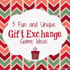 3 Fun and Unique Gift Exchange Ideas by playpartypin.com #holiday #games #party #giftexchange