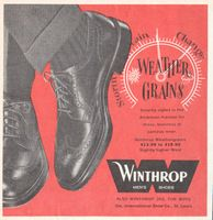 Winthrop Weathergrains Shoes 1959 Ad Picture