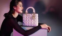 "LADY DIOR - Céleste leather ""Lady Dior"" bag"