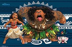 """Trends International RP14270 """"Moana Faces"""" Wall Poster, 22"""" x 34"""""""