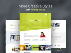Chevron One Page Template by KonnstantinC