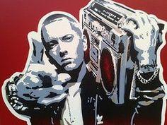 Eminem Art - Radio   by Leon Keay