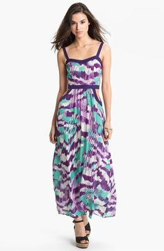 Add fabric to eliminate cut outs? Soprano Cutout Abstract Print Maxi Dress (Juniors) available at #Nordstrom