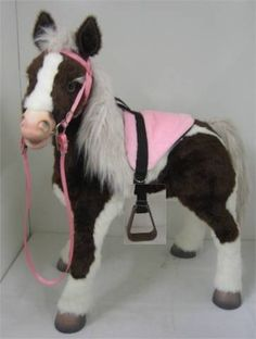 Butterscotch S'Mores Interactive Horse Saddle Set - Pink! by Party Ponies. $32.99. HORSE NOT INCLUDED! Styled after the real thing, your S'Mores or Butterscotch Hasbro Horse will be decked out in true horse fashion! Beautiful colors, with matching bridle and rein. Real bit! Perfect size adjustable stirrups a child can really put their foot in!  Included is a complete bridle with headstall, rein and bit. Saddle with detachable stirrups.  See our other listings for mat...