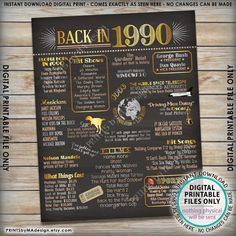 Back in 1990 Poster Board Remember 1990 Flashback to 1990 30th Birthday Party For Her, 30th Birthday Themes, 30th Birthday Ideas For Women, Thirty Birthday, 30th Party, Happy 30th Birthday, Birthday Board, Birthday Woman, 30 Birthday