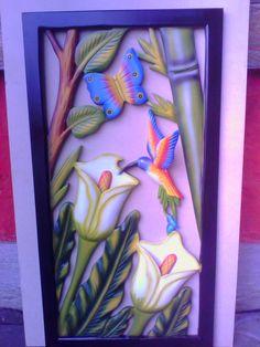 tucan eliconea y mango 34x72 cms     picaflores y girasol 34x72 cms       guacamaya pichones 34x 72 cms     loro solo 23x75 cms     loro e...