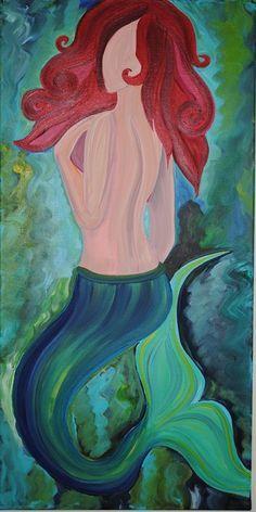 """""""Mermaid"""" Acrylic on canvas"""