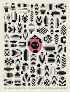 Cults Bugs, Methane Studios (Robert Lee) lt ed $25 #print #walls #ladybug