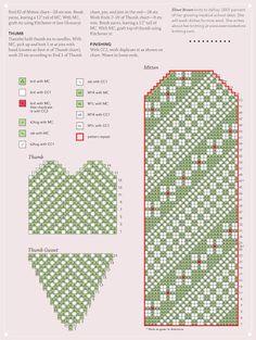 View album on Yandex. Knitted Mittens Pattern, Crochet Mittens, Knitted Gloves, Knit Crochet, Knitting Charts, Hand Knitting, Knitting Patterns, Fair Isle Knitting, Craft Patterns