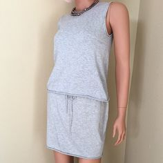 """Max Studio knit top and skirt set. Size S Lightweight cotton knit top and skirt set in silver gray, features rolled hem detail and drawstring waist. Soft and comfortable. Skirt measures 15"""". Max Studio Tops"""