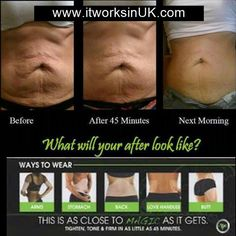 What will your 'after' photos look like? 40% saving now at www.itworksinUk.com or call/text us on 07546 311 621 #tighten #tone #firm #cellulite #summer #great #results #beauty #saggy #slimmingbodywrap #crazywrap #itseasy #itworks