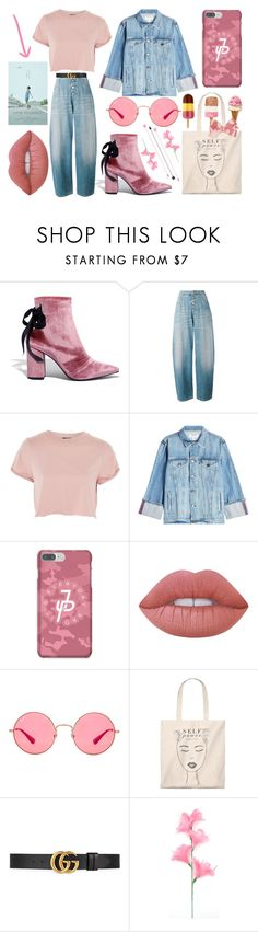 """""""JP"""" by roigponsmarina on Polyvore featuring moda, Robert Clergerie, MM6 Maison Margiela, Topshop, Frame, Lime Crime, Ray-Ban y Gucci"""