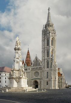 Budapest, Hungary -Mátyás church it was originally built Romanesque style AD 1015 the current building was constructed in the florid late Gothic style the second half of the 14th century