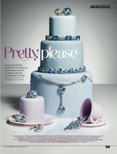 You Inspire, fine jewellery on cakes  Jewellery Editor: Bettina Vetter