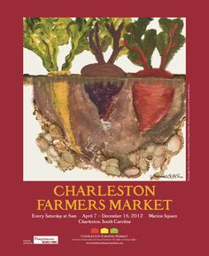 Charleston Farmers Market poster by Amanda McLenon