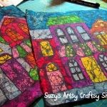 It's batik using crayons and cold fabric dye. A tad time consuming at one part but look how great it turned out.
