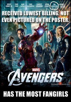 Loki. Niedrigste Gage,nicht auf dem filmplakat abgebildet...trotzdem... hat die meisten fansgirls xD