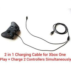 2M extra long USB charging charger cable + play cable lead for PS4 & for XBOX ON #Sony