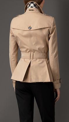 Burberry London Cotton Gabardine Trench Jacket