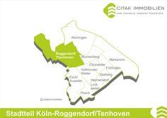 Stadtteil Köln-Roggendorf/Thenhoven Der Doppelort Roggendorf/Thenhoven ist ein Stadtteil im Bezirk Chorweiler. Nordwestlich gelegen, grenzt er an die Stadtteile Blumenberg im Osten, Esch/Auweiler im Süden und Worringen im Nordosten.