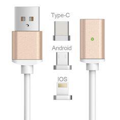 2.4A High Speed Charging Magnetisk ladekabel som er designet til iPhone og Android