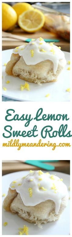 Lemon Sweet Rolls – Everything you love about a cinnamon roll, but with lemon flavors instead! They have a sweet, sticky lemon filling topped with a vanilla buttercream frosting!