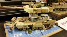 Abrams Tank cut away scale model